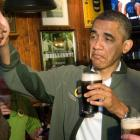 US President Barack Obama samples a beer on St. Patrick's Day in Washington in March. Photo Reuters