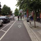 Vancouver's ''deluxe'' cycleway regularly has more than 1000 riders commuting along it. Photo...