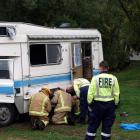 Emergency services at the scene.  PHOTOS: GREGOR RICHARDSON & DAVID WILLIAMS