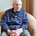 Veteran Colin Rutherford (95) is photographed at the Montecillo Veterans' Home and Hospital this...