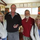 Veteran rural delivery contractor Geoff Davis (second from left) with three of his rural mail...