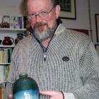 Waikouaiti potter Peter Gregory with one of the pots he plans to exhibit in North Carolina. The...