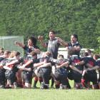 Waitaki Boys' High School lays down the challenge to Timaru Boys' High School in the first XV...