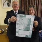 Waitaki Mayor and Palmerston Gateway to Gold chairman Alex Familton and Waitaki District...