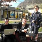 Wakatipu High School film enthusiasts, technical director Andres Cavallari (18), producer...