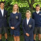 Wakatipu High School pupils (from left) Ben Hull (14), Sophie Gibson (16), Amelia Matthews (12)...
