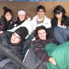 Wakatipu High School pupils (from left) Dahn Kim (18), of Queenstown, Bruno Shirley (17), of...