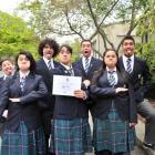 Wakatipu High School pupils (from left) Dylan Sharland (15), Hiria Tuhura (16), Connor Ryan-Wills...