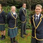 Wakatipu High School pupils (from left) Monique Hannagan (15), Millie Atkin (16), Matthew...