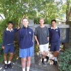 Wakatipu High School pupils nominated for Central Otago Sport awards on Friday include (from left...