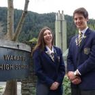 Wakatipu High School's head girl and boy for 2016, Ashley Burney (17) and Ben Hull (16). Photo by...