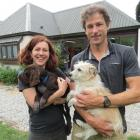 Wakatipu veterinarians Nicky Viggers and Geoff Woodhouse, with four-legged friends, feature in...