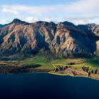 Walter Peak Estate beside Lake Wakatipu is contained by the yellow lines. Photo supplied.