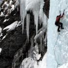 Wanaka climber Allan Uren on an ice climb, an adventure which features in  the film <i> In The...