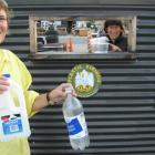Wanaka Wastebusters committee secretary Sharon Beattie (left) and communications officer Gina...