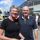 Wanaka Wastebusters general manager Sue Coutts and board chairman Ross McRobie after an...