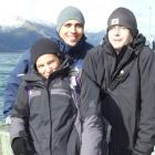 Well rugged up on a chilly morning in Queenstown are (from left) Natascha Stojkov, Adrian...