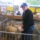 West Melton farmer Robin Wilson was thrilled to win best line-up of three Corriedale ewe hoggets...