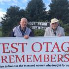 West Otago World War 2 returned servicemen Bill Roulston  (left) and Bruce Miller, both of...