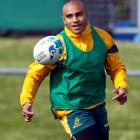 Will Genia, seen taking part in a Wallabies training session in Auckland, is seen as a big threat...