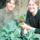 Willing Workers on Organic Farms volunteers Sean Alter and Emily Buhr are enjoying their time...