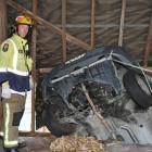 Willowbank Fire Station senior firefighter Mark McEntyre at the scene.