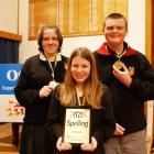 Winners of the years 9 and 10 Otago Daily Times Extra! Spelling Quiz held at Timaru Boys' High...