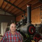 Winton farmer Owen Saunders and his restored 1911 Burrell traction engine.
