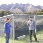 Former Wanaka Doc worker Rachel Brown and Doc staff member Chris Golding, who worked on the weka...