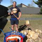 Wood-chopper Brad Pako (15), of Cromwell, is home with more titles after competing at the Royal...