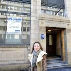Woods Adams building owner Michelle Kennard, in front of the Bond St building she has restored...