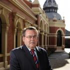 Xavier College principal Dr Chris Hayes outside the Melbourne, Australia, school.