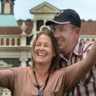 Dawn Princess passengers  Kerryn and Danny Robinson, of Melbourne, take a selfie at the Dunedin...