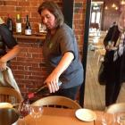 Yalumba brand ambassador Jane Ferrari  pours one of the company's reds at a recent tasting at...