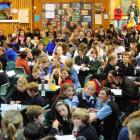 Year 6 Extra spelling quiz at Tahuna Intermediate on Wednesday night.  Photo by Craig Baxter.