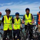 Year 7 and 8 Carisbrook School pupils (from left) Noah Scott, Zane Bishop-Fennessy, Ina Uriaro...