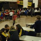 Year six pupils race to the markers with their answers during the Otago Mathletics Competition in...