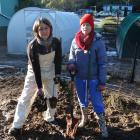 Yellow Eyed Penguin Trust Company Bay nursery employees Anita Pillai (left) and Louise Ashton are...