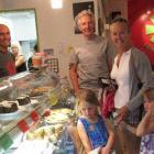Yohei Cafe owners John and Lynette Gordon, customers Doug Tuckett, of Wanaka, Jo Patching, of...