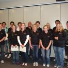 Young Clutha people who have just completed the 14-week Making a Difference programme are (front...