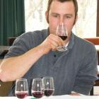 Young Viticulturist of the Year winner Tim Moorhouse (Mount Edward) samples the wines.