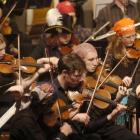 The Dunedin Youth Orchestra, with some members dressed as pirates, hits the right notes at the...