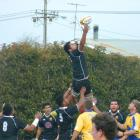 Action from today's Old Boys v Valley game. Photo: Hayden Meikle