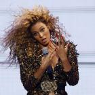 Beyonce performs at the Glastonbury Festival. Photo: Reuters