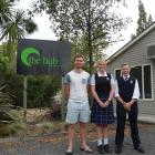 Blake Merrett (far right) and Jenna Fleck  are part of a 14-strong group from Youth East Taieri...