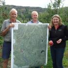 Central Otago orchardists, including Sid Birtles (left), of Roxburgh East, and Stephen Jeffery,...