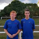 Football South club members Tim O'Farrell (left), of Dunedin, and Rory Findlay,  of Taieri, have...