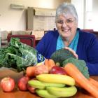 Fruit and vegetable-buying co-operative Mosgiel co-ordinator Margaret McConnachie with some of...