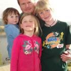 Hilton Miller, of Queenstown, with Addisyn (2), Taylah (5) and Noah (7) Miller.