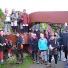 Strath Taieri School pupils  prepare to walk from Lee Bay to Port William during a recent school...